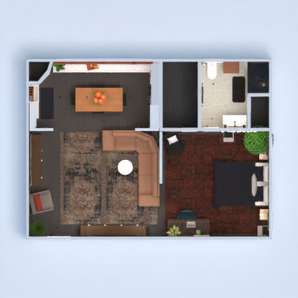 floorplans appartement studio 3d