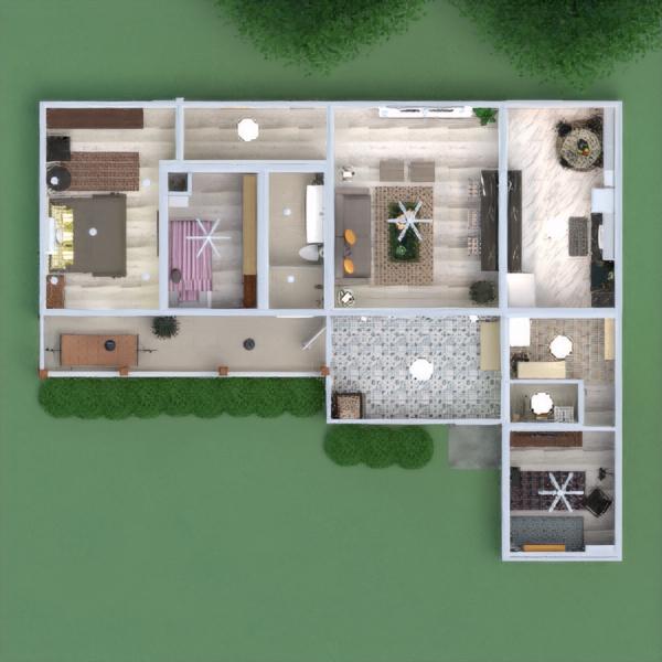 floorplans haus mobiliar schlafzimmer küche architektur 3d