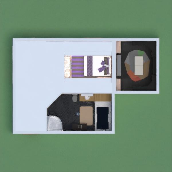 floorplans mieszkanie sypialnia pokój dzienny mieszkanie typu studio 3d