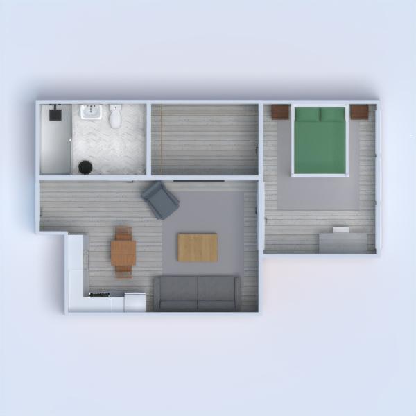 floorplans appartement diy salle de bains chambre à coucher salon cuisine 3d