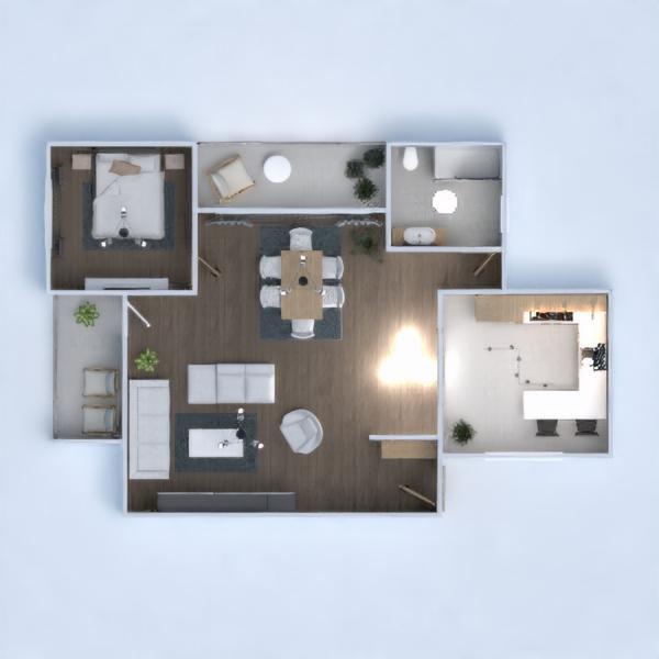планировки дом столовая 3d