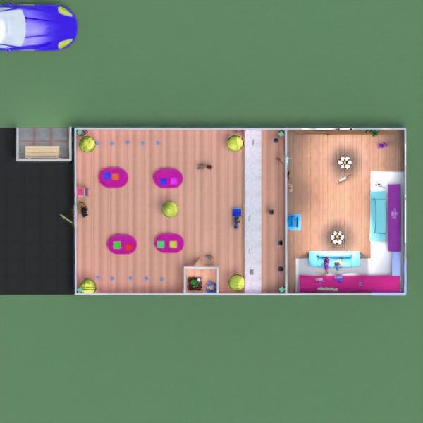 floorplans arredamento decorazioni cameretta illuminazione monolocale 3d