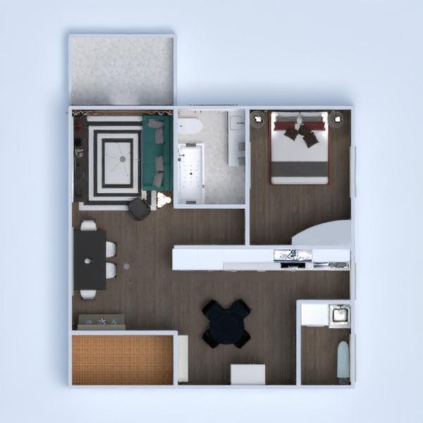 floorplans apartamento terraza decoración bricolaje cuarto de baño dormitorio cocina iluminación arquitectura descansillo 3d
