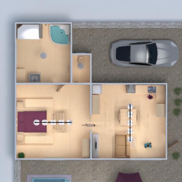 floorplans apartment house terrace furniture decor bathroom bedroom living room kitchen outdoor lighting dining room studio entryway 3d