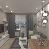 floorplans apartment house furniture decor living room kitchen storage 3d