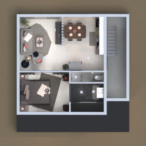 floorplans mieszkanie wystrój wnętrz sypialnia pokój dzienny architektura 3d