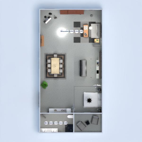 floorplans meubles décoration chambre à coucher salon 3d