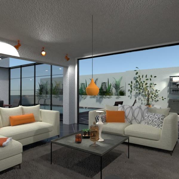 floorplans apartment terrace living room kitchen outdoor 3d