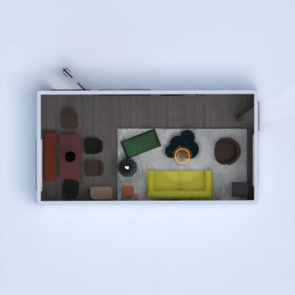 floorplans dom meble wystrój wnętrz pokój dzienny oświetlenie 3d