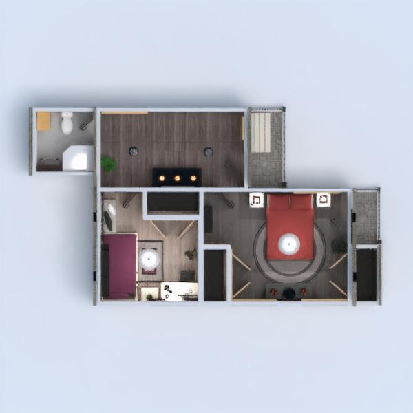 floorplans casa cuarto de baño dormitorio salón exterior 3d