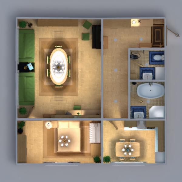 floorplans apartamento muebles decoración bricolaje cuarto de baño dormitorio salón cocina habitación infantil iluminación reforma hogar comedor trastero descansillo 3d