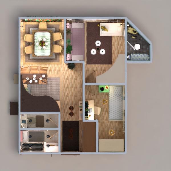 floorplans mieszkanie meble zrób to sam łazienka sypialnia pokój dzienny kuchnia pokój diecięcy oświetlenie remont jadalnia przechowywanie mieszkanie typu studio wejście 3d