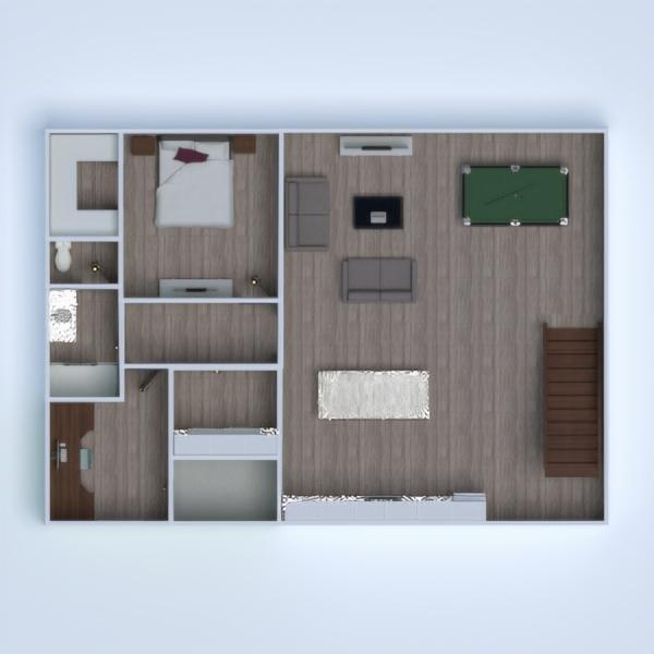 floorplans maison chambre à coucher extérieur paysage entrée 3d