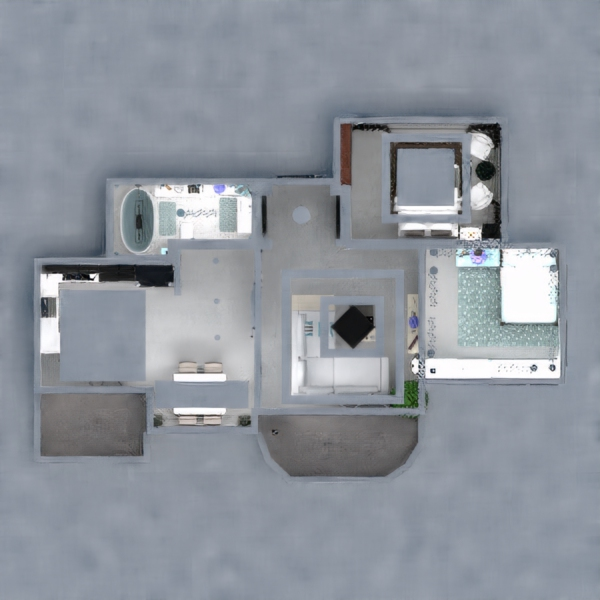 floorplans apartment furniture decor bathroom living room 3d