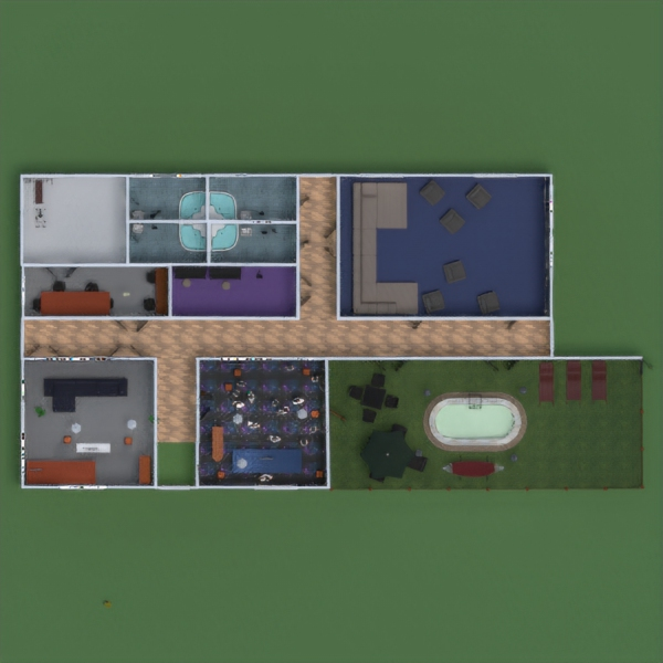 floorplans casa terraza muebles decoración paisaje 3d