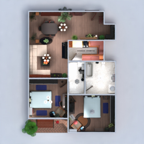 floorplans apartment terrace furniture decor diy bathroom bedroom living room kitchen lighting dining room studio 3d