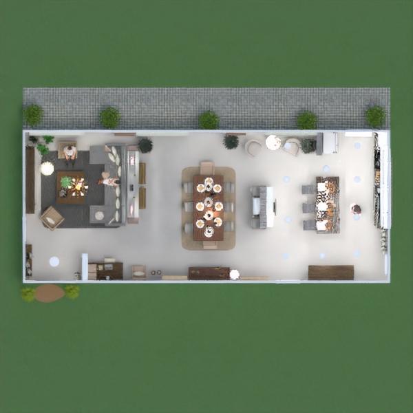 floorplans namas baldai dekoras svetainė apšvietimas 3d