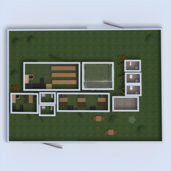 floorplans studio illuminazione paesaggio famiglia monolocale 3d