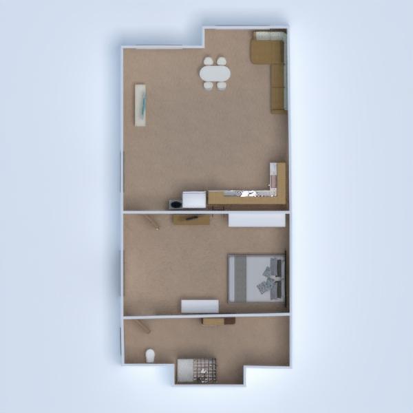 floorplans apartamento casa varanda inferior mobílias decoração 3d