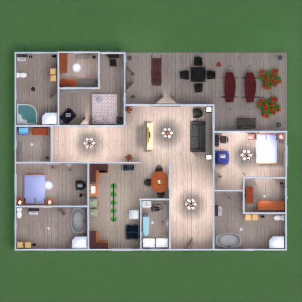 floorplans apartment house landscape architecture 3d