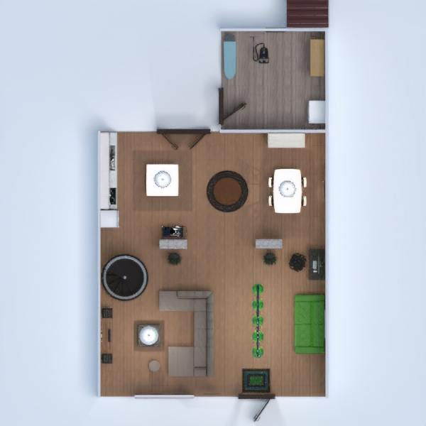 floorplans house terrace dining room 3d