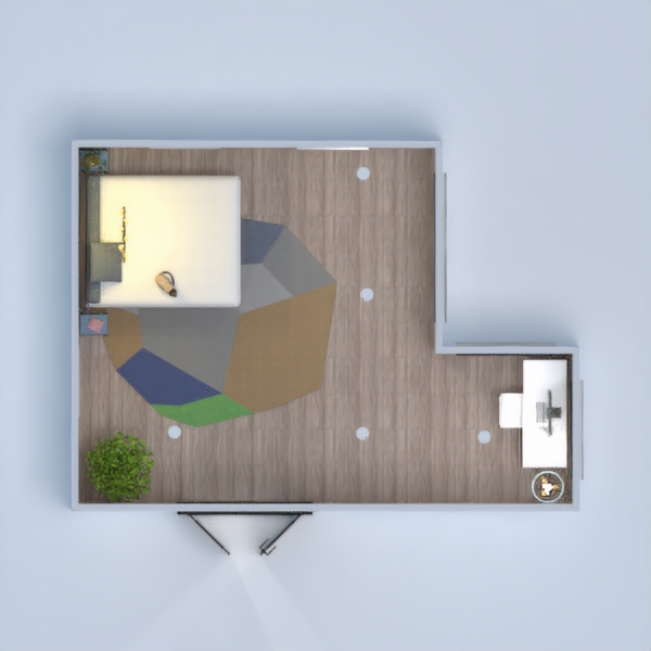 floorplans dom wystrój wnętrz sypialnia oświetlenie mieszkanie typu studio 3d