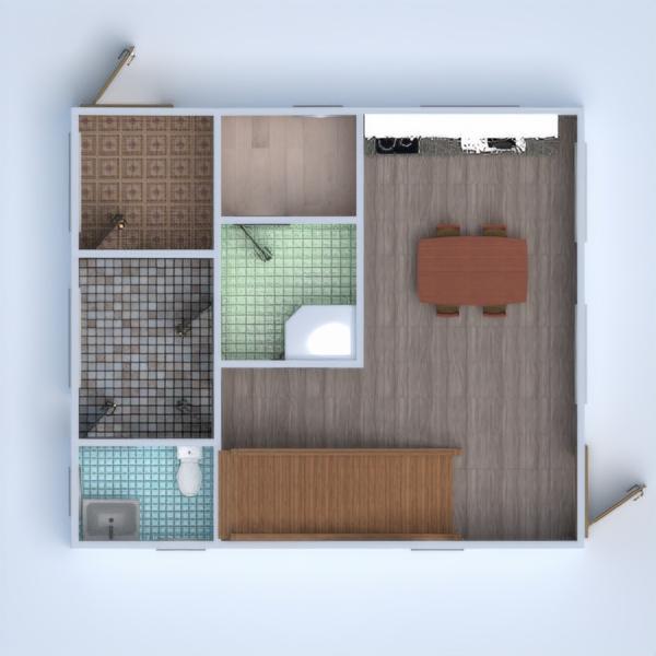 floorplans maison salle de bains salon cuisine 3d