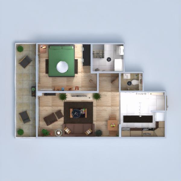floorplans квартира терраса мебель декор ванная спальня гостиная кухня освещение прихожая 3d