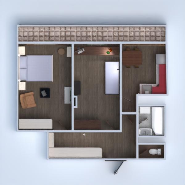 floorplans appartamento cucina cameretta rinnovo vano scale 3d