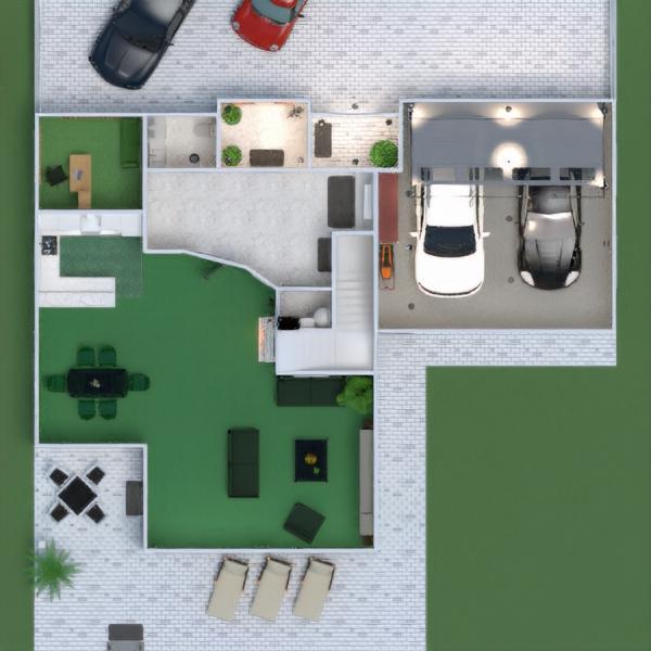 floorplans apartamento casa varanda inferior mobílias casa de banho dormitório quarto garagem cozinha área externa quarto infantil sala de jantar arquitetura 3d