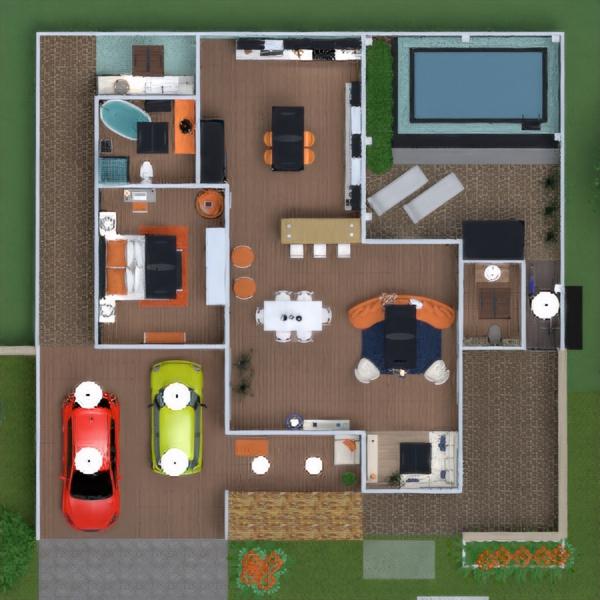 floorplans namas terasa baldai dekoras pasidaryk pats vonia svetainė garažas virtuvė eksterjeras apšvietimas renovacija kraštovaizdis namų apyvoka kavinė valgomasis аrchitektūra prieškambaris 3d