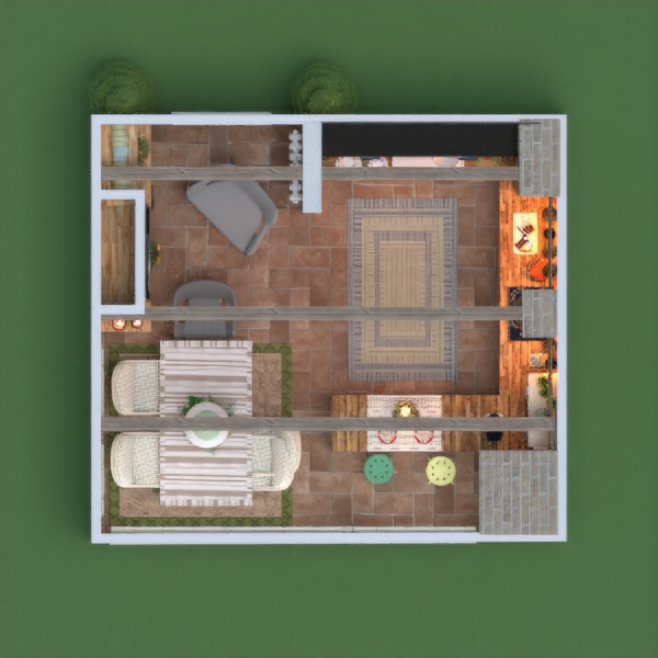 floorplans apartment furniture kitchen lighting renovation dining room 3d