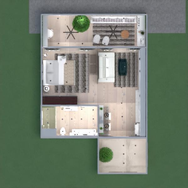 floorplans wohnung terrasse dekor küche beleuchtung architektur eingang 3d