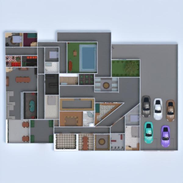 floorplans dom łazienka sypialnia pokój dzienny pokój diecięcy 3d