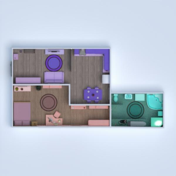 floorplans wohnung mobiliar dekor badezimmer schlafzimmer wohnzimmer küche 3d