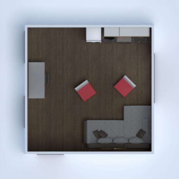 planos apartamento casa muebles cocina despacho 3d