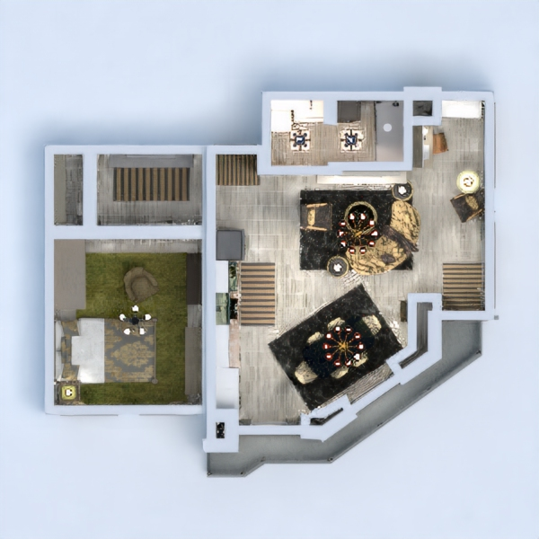 floorplans muebles salón estudio 3d