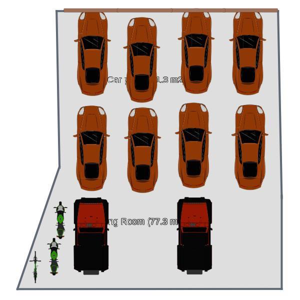 floorplans garage storage 3d