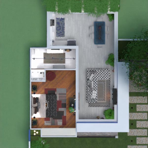 floorplans casa dormitório cozinha área externa reforma 3d
