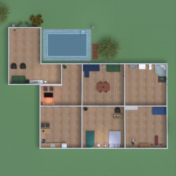 floorplans casa mobílias casa de banho dormitório iluminação 3d