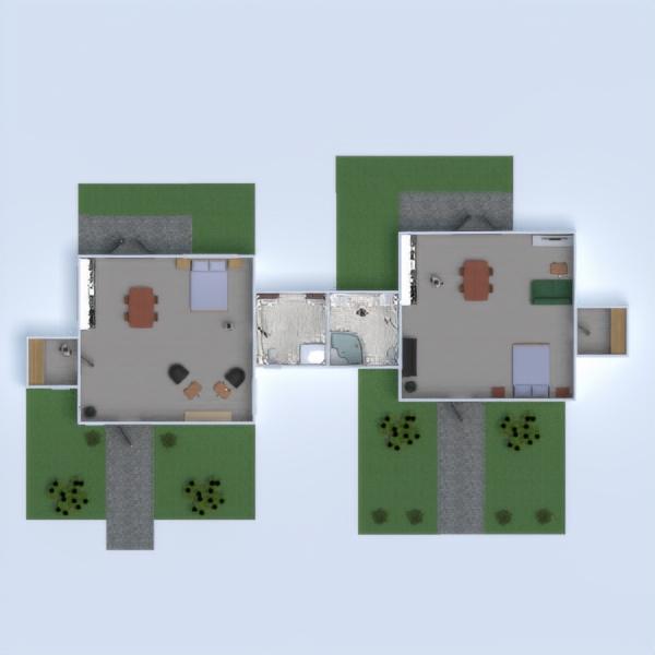 floorplans dom łazienka sypialnia pokój dzienny przechowywanie 3d