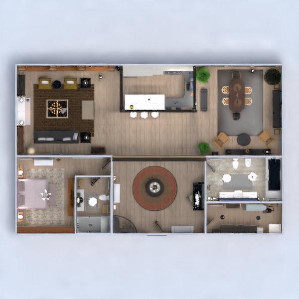 floorplans apartamento casa muebles decoración bricolaje cuarto de baño dormitorio salón cocina despacho iluminación reforma hogar comedor arquitectura trastero estudio descansillo 3d