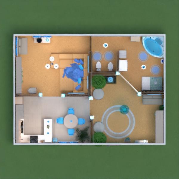 floorplans apartamento muebles decoración bricolaje cuarto de baño salón cocina iluminación hogar estudio descansillo 3d
