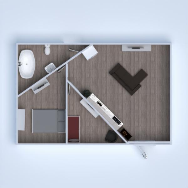 floorplans appartamento bagno camera da letto cucina cameretta 3d