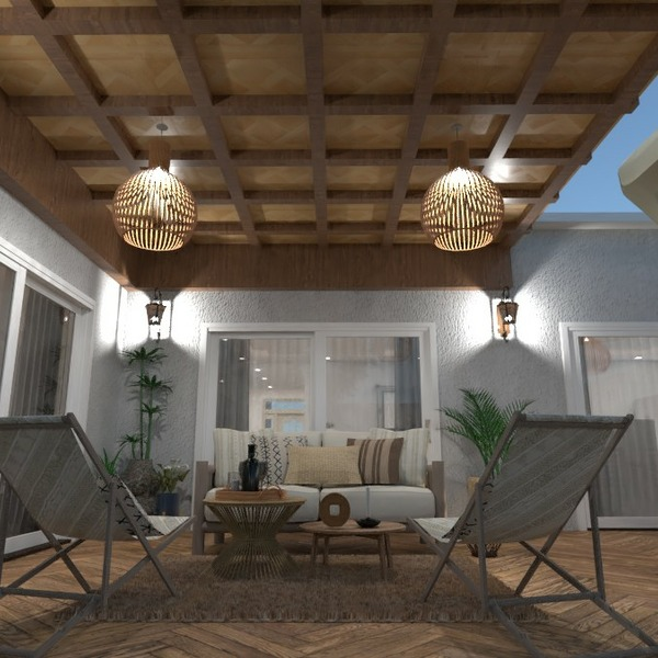 floorplans house terrace furniture decor 3d