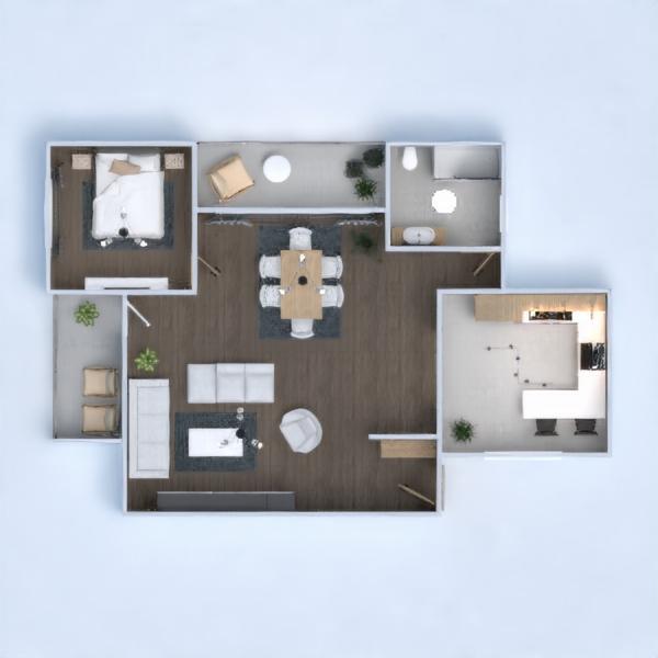 floorplans apartamento casa mobílias decoração quarto 3d