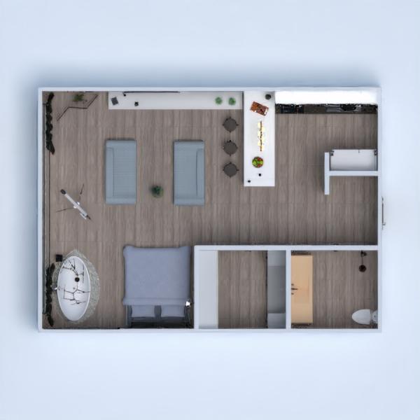 floorplans arredamento bagno camera da letto saggiorno monolocale 3d