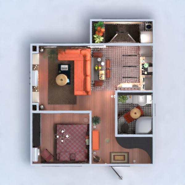floorplans wohnung mobiliar dekor do-it-yourself badezimmer schlafzimmer wohnzimmer küche beleuchtung renovierung lagerraum, abstellraum studio eingang 3d
