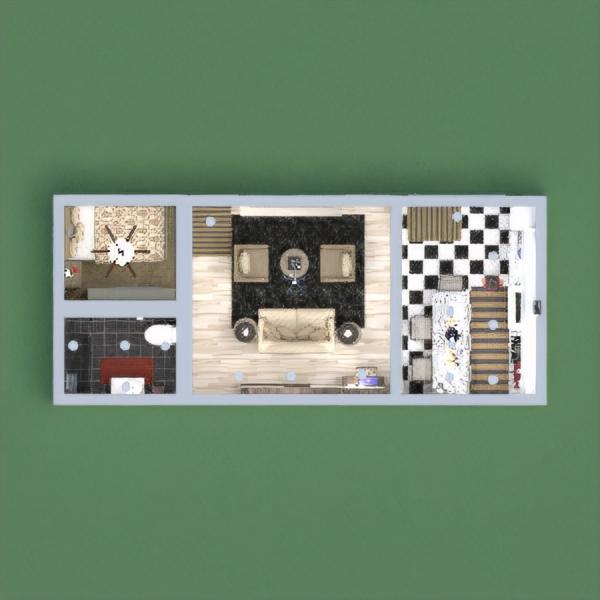 floorplans arredamento decorazioni monolocale 3d