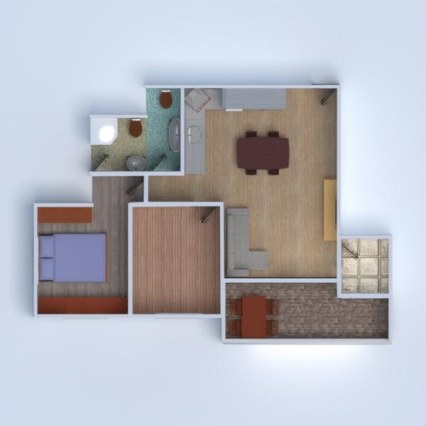 floorplans apartment house terrace furniture decor diy bathroom living room kitchen renovation 3d